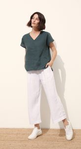 BREAKWATER LINEN V NECK