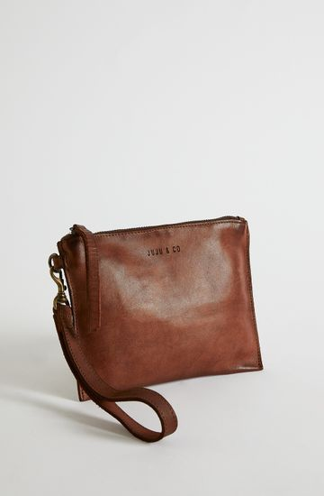 FLAT LEATHER POUCH
