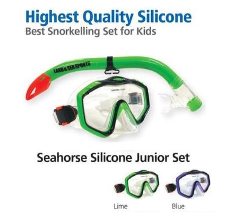 Land & Sea Seahorse Silicone Junior Mask Set