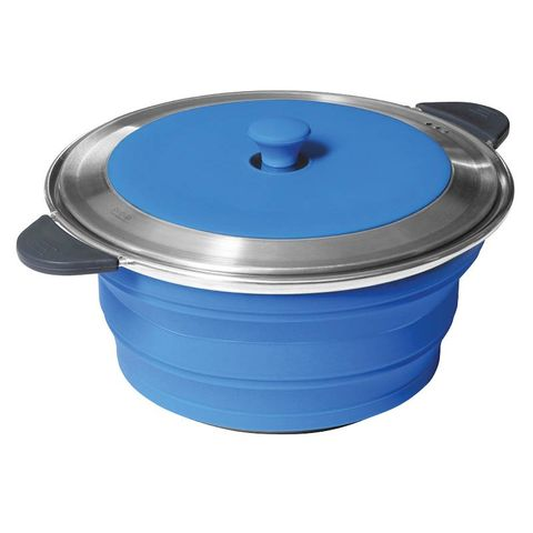 Pop UP Stockpot & Lid 5L Blue