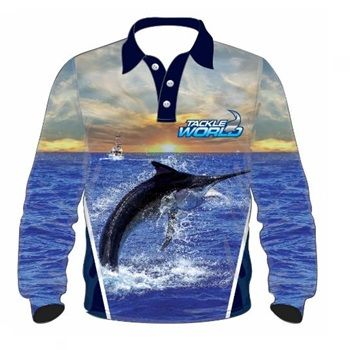 TW Fish Print Shirts - Marlin Mens