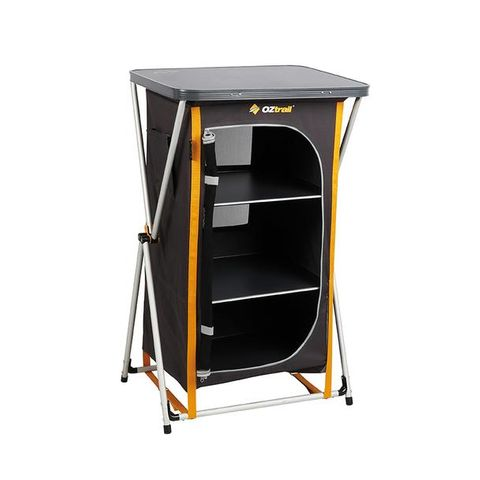 Oz Trail 3 Shelf Deluxe Cupboard