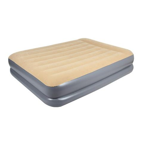 Oz Trail Velour Air Mattress Queen Bed DH