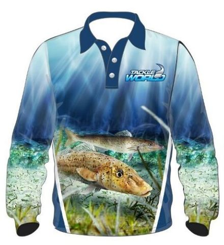 TW Fish Print Shirts - Whiting Kids