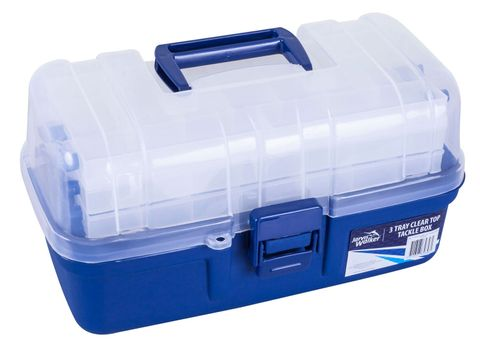 Jarvis Walker Tackle Box 3 Tray Clear Top