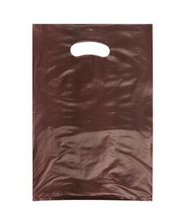 SMALL CHOCOLATE HDPE DIE CUT BAGS