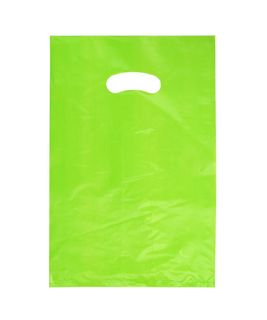 SMALL GREEN HDPE DIE CUT BAGS