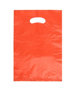 SMALL ORANGE HDPE DIE CUT BAGS