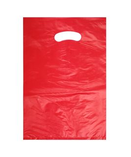 SMALL RED HDPE DIE CUT BAGS