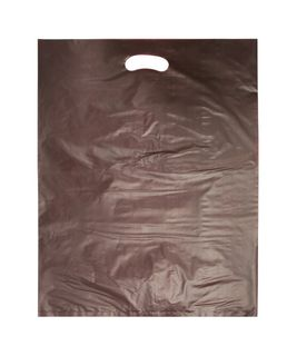 LARGE CHOCOLATE HDPE DIE CUT BAGS