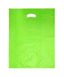 LARGE GREEN HDPE DIE CUT BAGS