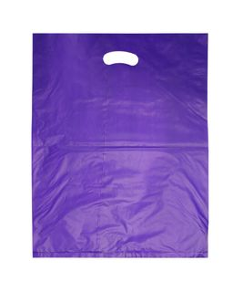 LARGE PURPLE HDPE DIE CUT BAGS
