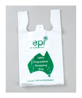 DEGRADABLE LARGE SINGLET BAGS - WHITE