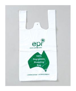 DEGRADABLE MEDIUM SINGLET BAGS - WHITE