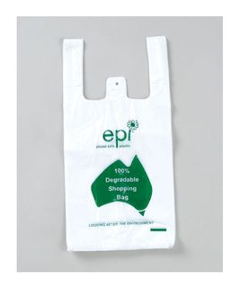 DEGRADABLE SMALL SINGLET BAGS - WHITE