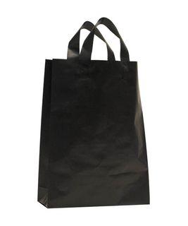 X-LGE BLACK MDPE SOFT LOOP BAGS/EPI