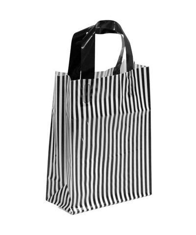 X-SML BLK/WHITE MDPE SOFT LOOP BAGS/ EPI