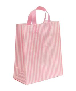 SMALL PINK/WHITE MDPE SOFT LOOP BAGS/EPI