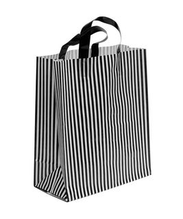 SMALL BLK/WHITE MDPE SOFT LOOP BAGS/ EPI
