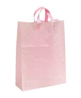 LGE PINK/WHITE MDPE SOFT LOOP BAGS/ EPI