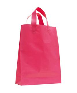 SMALL MAGENTA MDPE SOFT LOOP BAGS/ EPI