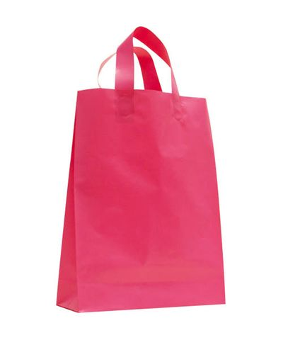 SMALL MAGENTA MDPE SOFT LOOP BAGS/ EPI