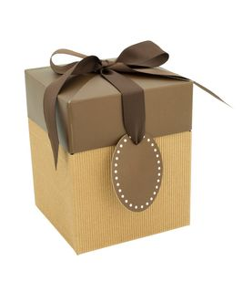 CORRUGATED POP-UP GIFT BOX MEDIUM BROWN
