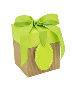 CORRUGATED POP-UP GIFT BOX SMALL GREEN