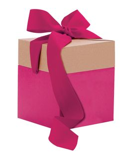 ECO POP-UP GIFT BOX MEDIUM PINK