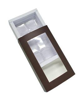 8 PIECE CHOCOLATE BOX TRAYS