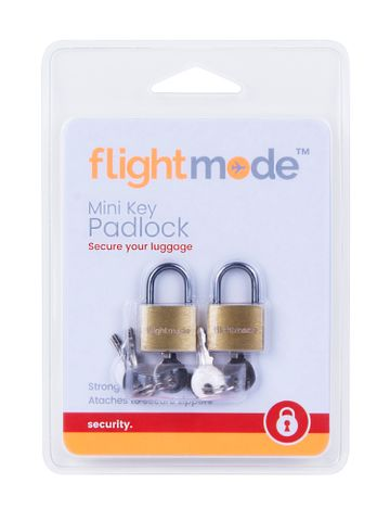 BRASS PADLOCKS 2PK
