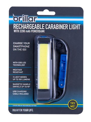 COB LED RECHARGEABLE CARABINER LIGHT