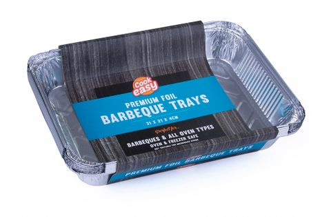 FOIL BARBEQUE TRAYS 8PK