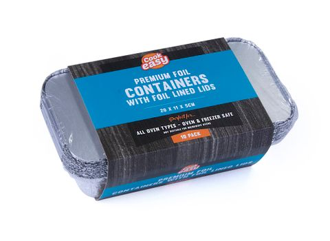 FOIL CONTAINERS WITH LIDS 10PK