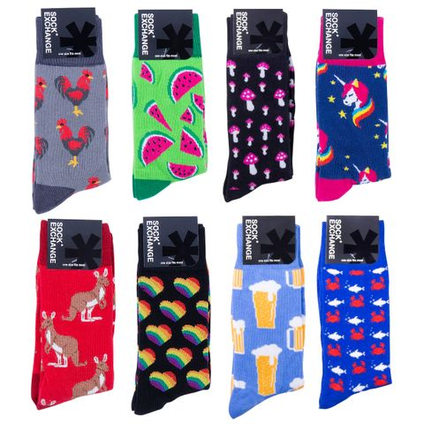 NOVELTY CREW SOCK SET 1