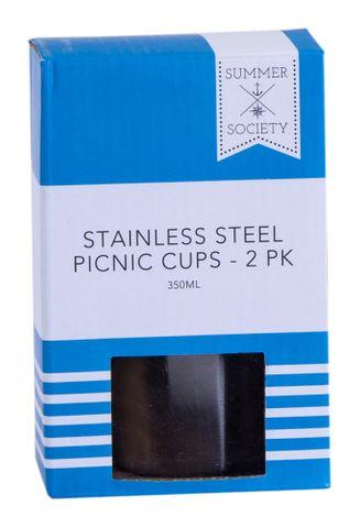 SS PICNIC CUPS 2PK