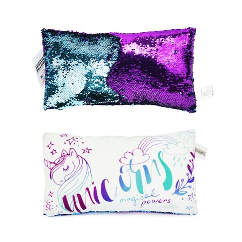 ILLUSTRATED SEQUIN PILLOW - SMALL