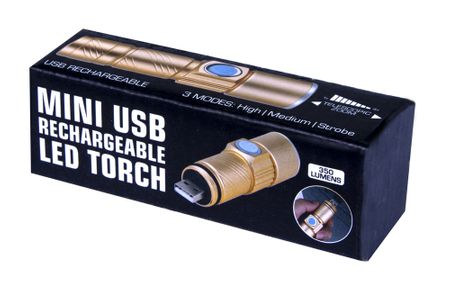 MINI BRIGHT USB RECHARGABLE LED TORCH