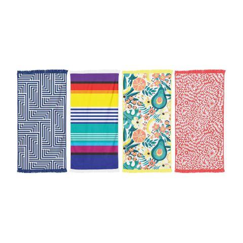 LAZY DAYZ RECTANGUALAR TOWEL WITH TASSLE