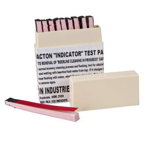 INDICATOR TEST PAPERS FOR BEERLINE CLEANERS