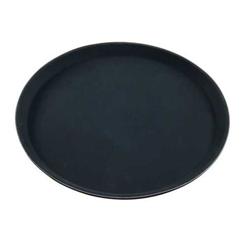 CHEF INOX ROUND BLACK TRAY