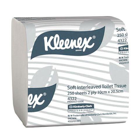 KLEENEX SOFT INTERLEAVED TOILET TISSUE