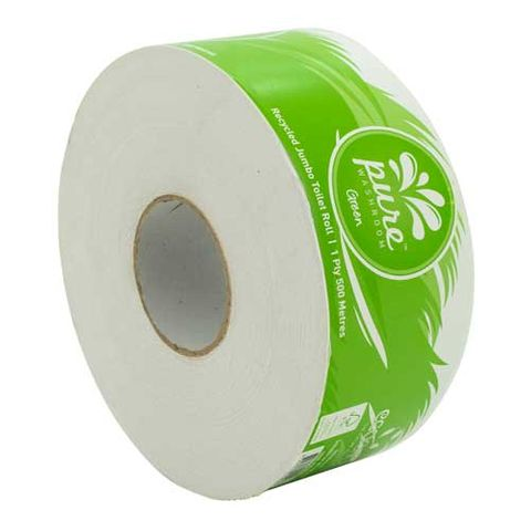 PURE WASHROOM RECYCLED GREEN JUMBO TOILET ROLL