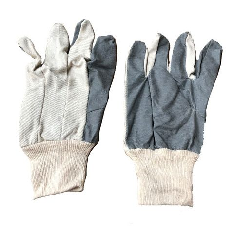 GREY VINYL GLOVES