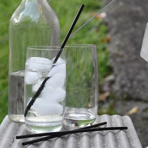 REGULAR STRAW, BLACK