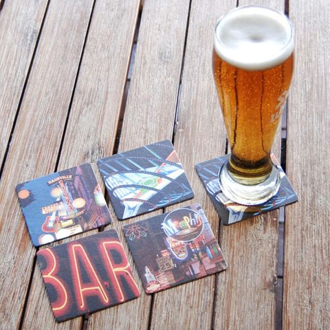 WOBBLY BOOT DRINK COASTER - NEON