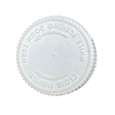 CHILD PROOF CAP - WHITE