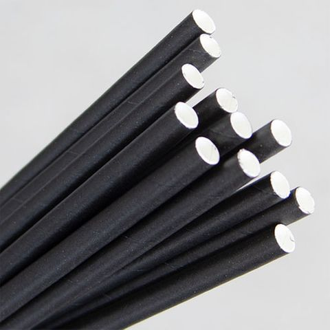 ECO-STRAW PAPER STRAWS - BLACK (REGULAR & COCKTAIL)