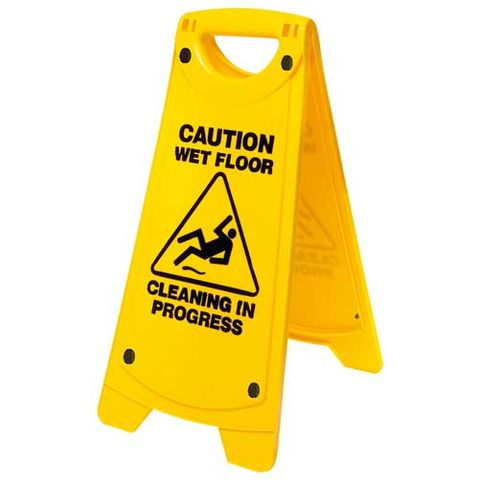 NON SLIP A FRAME CAUTION WET FLOOR SIGN