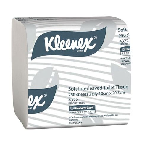 KLEENEX SOFT INTERLEAVED TOILET TISSUE